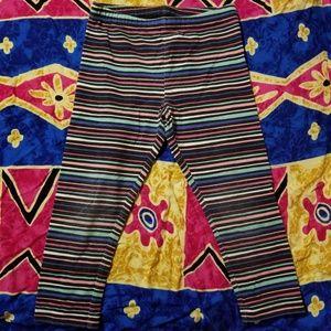 Okie Dokie Striped Colorful Leggings 3T